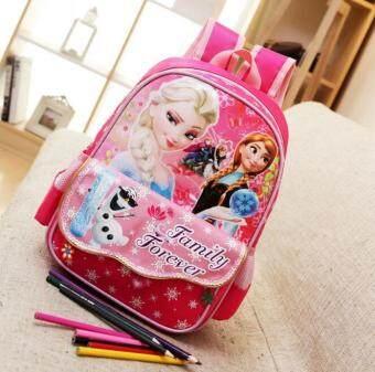 The Snow Queen Elsa Printing Backpack for girls School Bags Children Gifts Unisex kids school bag - intl