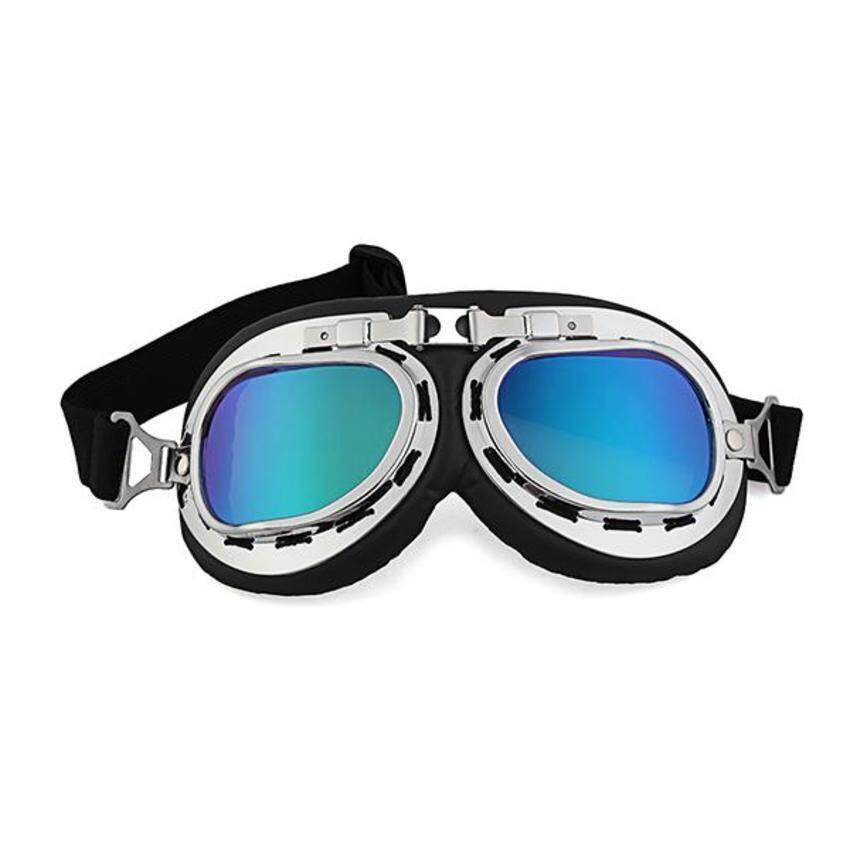 UJS Generic Vintage Style Aviator Pilot Motor Motorcycle Goggles Helmet Colorful Glasses (Intl)