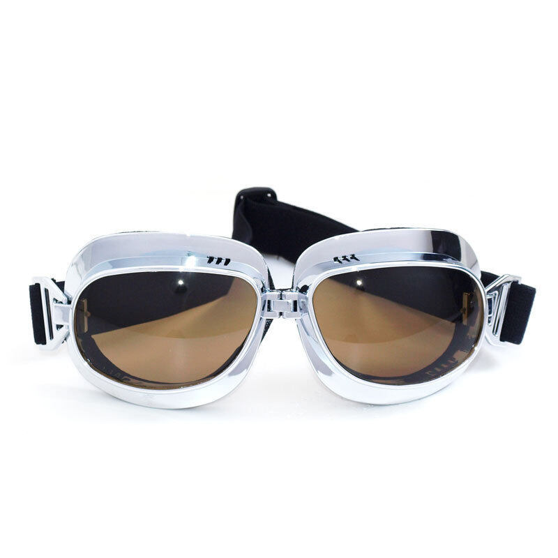 UJS High Quality motorcycle goggles Aviator Pilot Cruiser Motorcycle Scooter ATV Goggle Eyewear T04 Brown Lens (Intl)