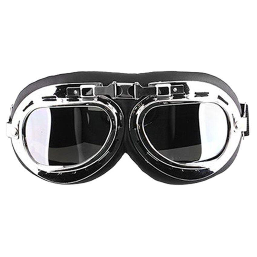 UJS Men Motorcycle Helmet Goggles (Black) (Intl)