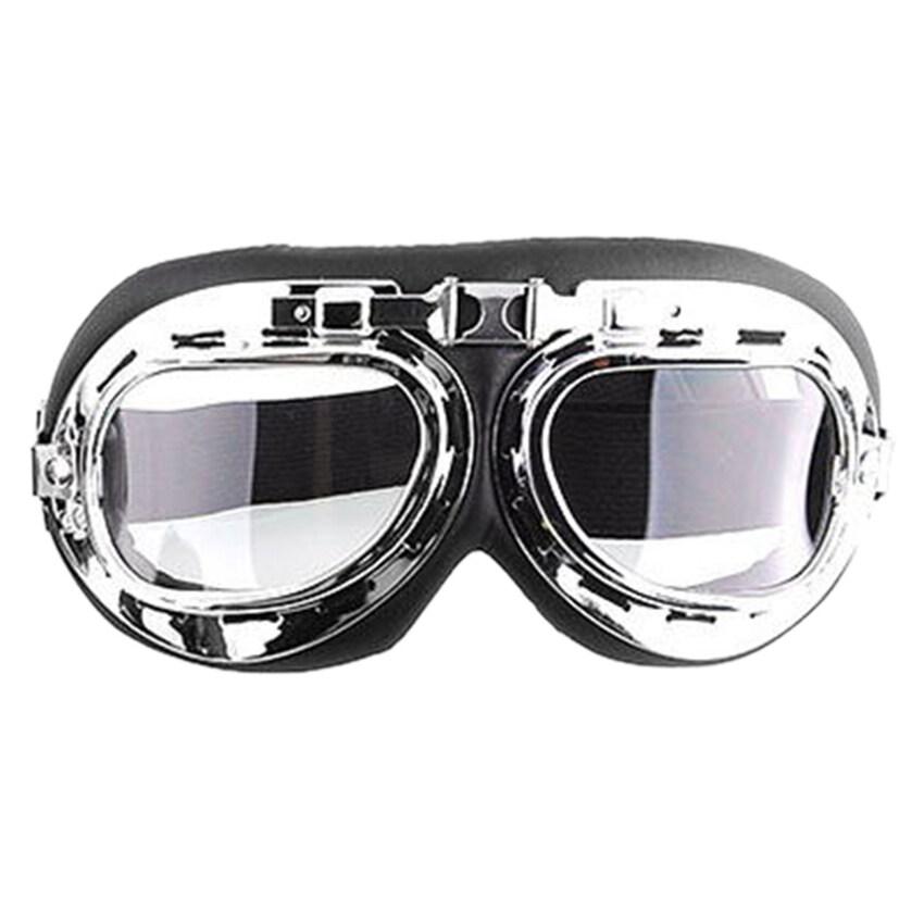 UJS Men Motorcycle Helmet Goggles (Transparent) (Intl)
