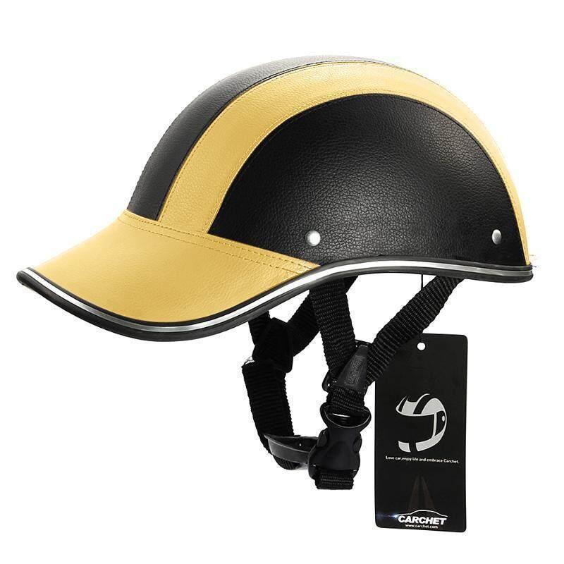 UJS Motorcycle Half Face Helmet Protective Helmets Pith Helmet Baseball Cap 5 Colors-Gold (Intl)