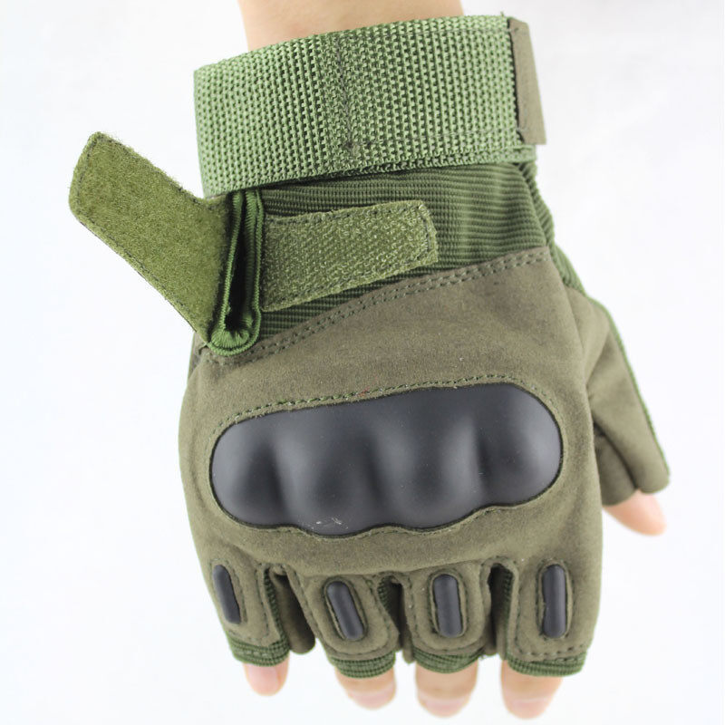 UJS Outdoor Camping Military Swat Airsoft Hunting Shooting Motorcycle Riding Cycling Safety CS Paintball Army Armed Tactical Gloves Army Green (Intl)