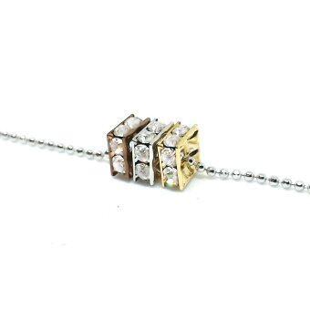UL Fashion Necklaces & Pendants สร้อยคอ พร้อมจี้ ประดับคริสตัล ลูกเต๋า 3 กษัตริย์