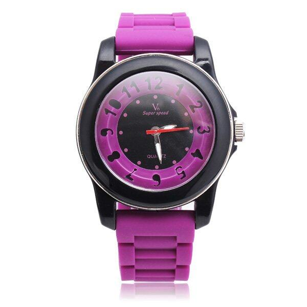 V6 Super Speed Special Silicone Band 5 Colors Quartz Watch Rose - intl ...