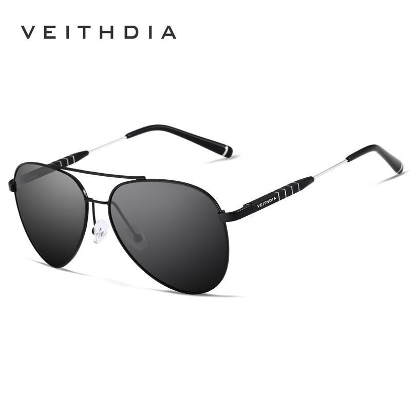 VEITHDIA Fashion Brand Unisex Designer Aluminum Men Sun Glasses Polarized Mirror Male Eyewear Sunglasses For Wommen Men 6698