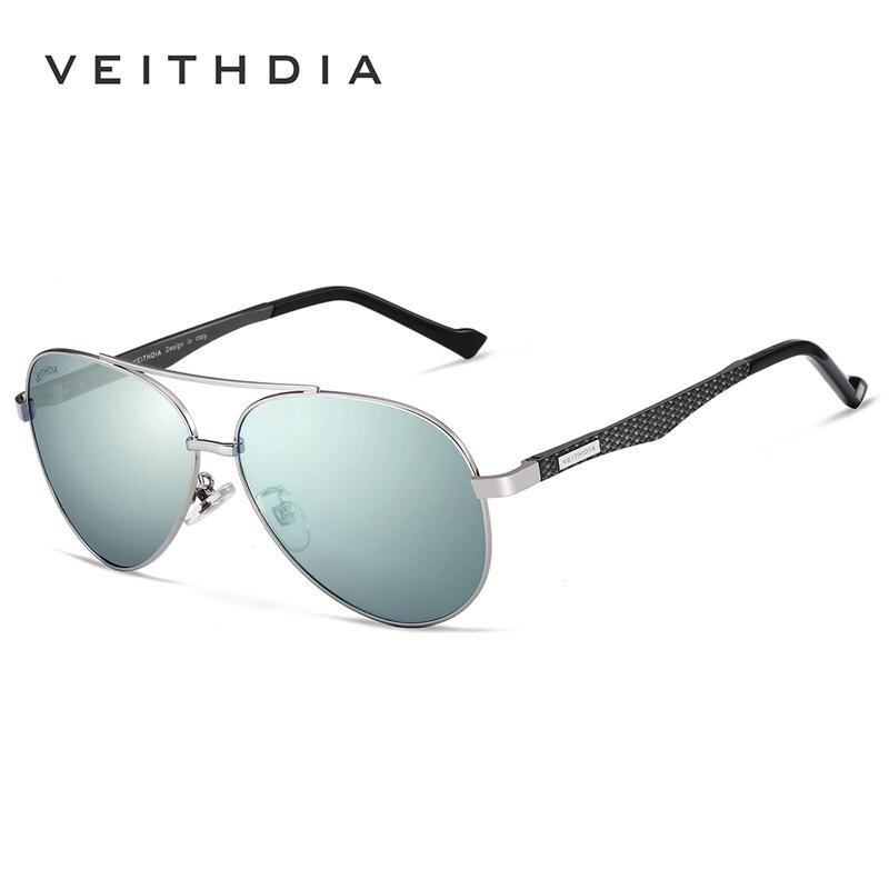 VEITHDIA Fashion Unisex Aluminum Men Sun Glasses Polarized Mirror Male Eyewear Sunglasse ...