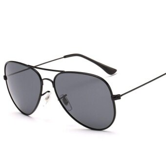 Victory Women and men fashion Explosion section fashion Polarized light Sunglasses Colorful Yurt sunglasses(NO.1 Grey) - intl