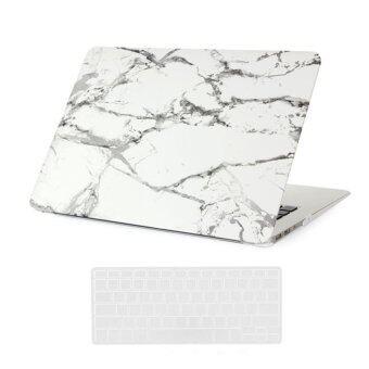 Welink 3ใน1 Apple MacBook Air 33.02ซมเคส/รูปแบบเคสแข็งอ่อน+ป้องกันฝุ่นปลั๊ก+แป้นพิมพ์ปกสำหรับ Apple MacBook Air 33.02ซม [รุ่น: A1369/A1466] (ขาว)