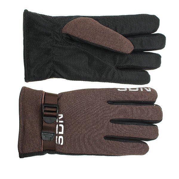 Winter Motorcycle Gloves Full Finger Mountain Gloves Outdoor Sports Brown - intl