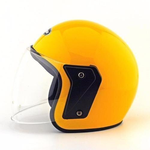 Yellow Motorcycle Half Face Helmet - intl