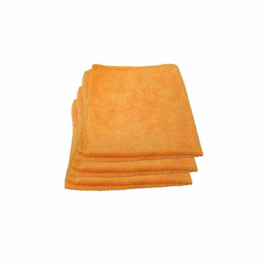 Z-one ผ้าไมโครไฟเบอร์ เกรด A ขนาด 40x40 ซม. - สีส้ม (แพค 3 ผืน) ...