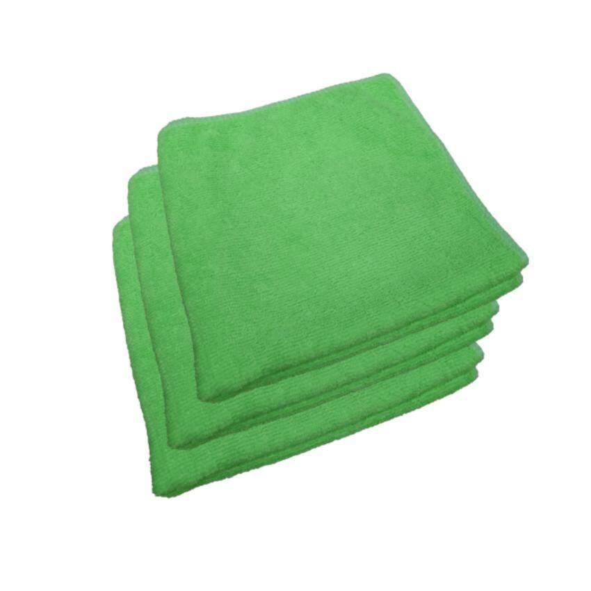 Z-one ผ้าไมโครไฟเบอร์ เกรด A ขนาด 40x40 ซม. - สีเขียว (แพค 3 ผืน) ...