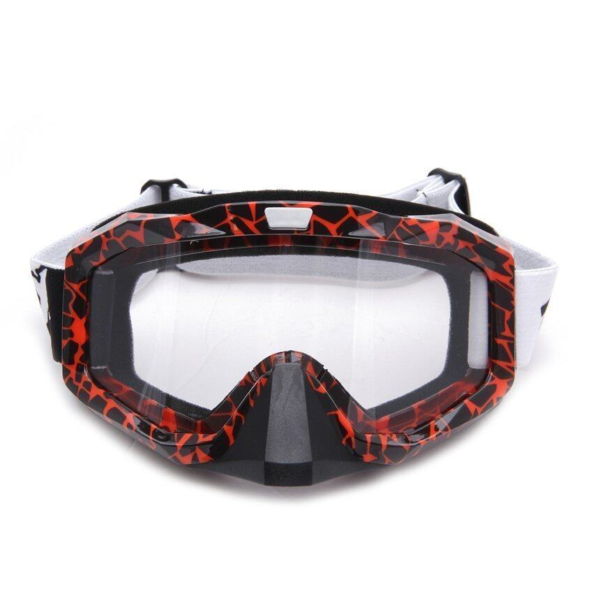 Zhouda Generic Motorcycle Motocross Ski Protective Glasses Goggle WithNose Guard (Red) - intl
