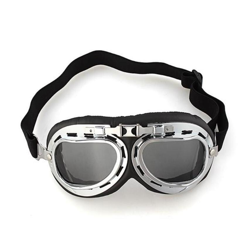 Zhouda Generic Vintage Style Aviator Pilot Motor Motorcycle Goggles Helmet Glasses - intl