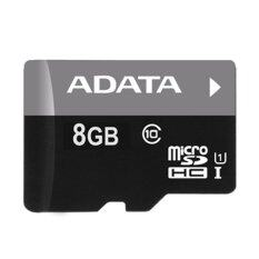 Adata MicroSD 8GB Class10 UHS-I with SD Adapter (Black)