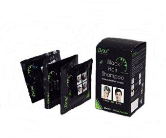 dexe black hair shampoo 25 ml 10 ซอง lazada