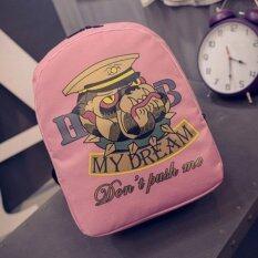 กระเป๋าเป้แฟชั่น schoolbags Polyester พิมพ์ลาย (สีชมพู)
