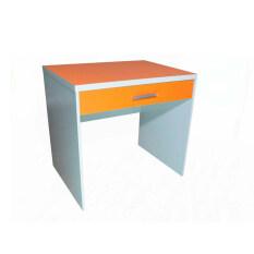NDL โต๊ะทำงานหน้าท๊อป PVC ขนาด 80cm (สีส้ม) รุ่นTZ-116