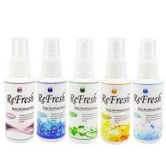 Refresh Deodorant Spray ชุดsetสำหรับผู้ชาย 5กลิ่น 60ml. (แพ็ค5ขวด)