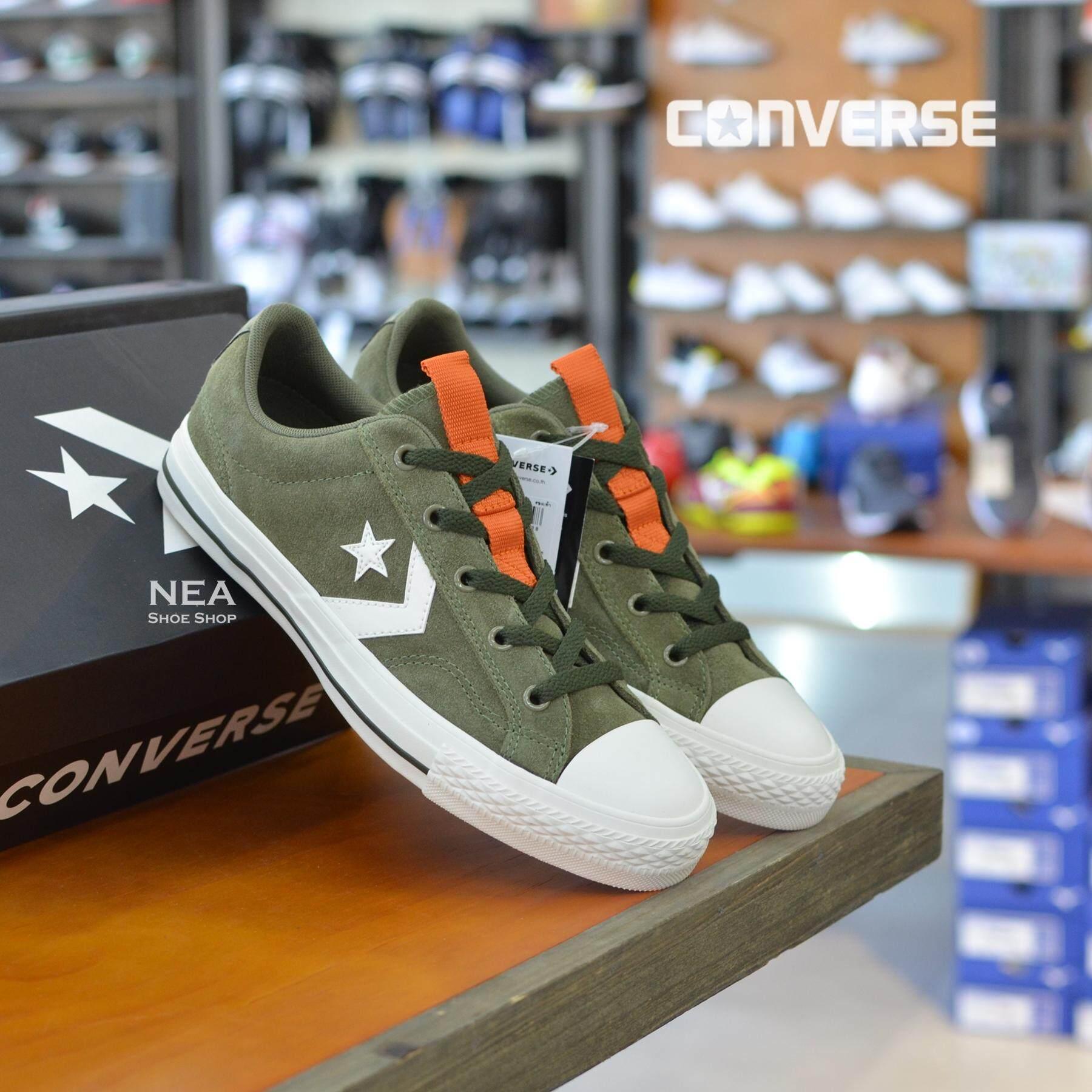 นครนายก [ลิขสิทธิ์แท้] Converse Star Player (Suede) ox สี เขียว/ส้ม รองเท้าผ้าใบ