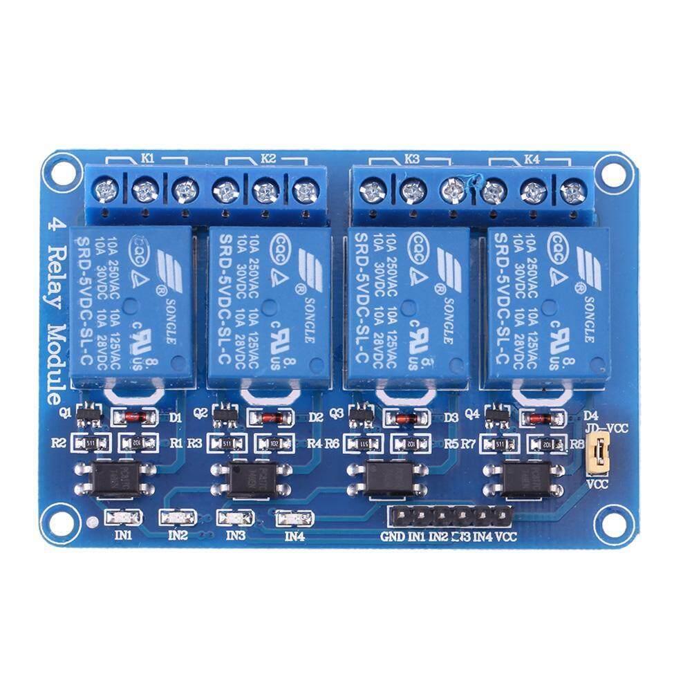 5 โวลต์ 4 ช่องรีเลย์โมดูล Optocoupler สำหรับ Pic Avr Dsp Arm Arduino - Intl By Electronicity.