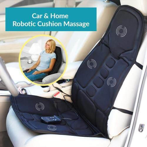 Ramada เบาะนวดไฟฟ้าพร้อมรีโมทขนาดเต็มตัวรองนั่งนวดได้ทั้งตัวช่วยให้หายปวดเมื่อยให้ความรู้สึกผ่อนคลายสบายตัว Robotic Cushion Massage Seat (full Size) สีดำ.