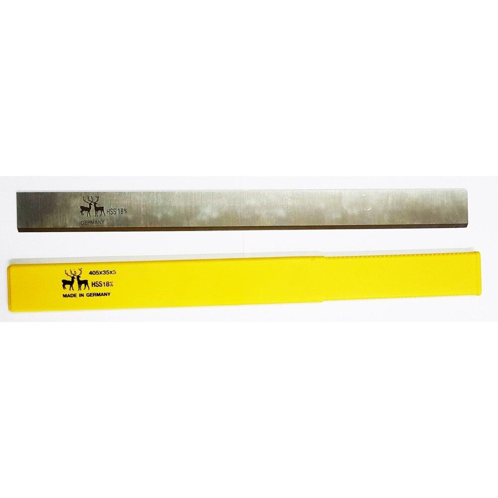 ใบมีดเครื่องใสไม้ เครื่องรีดไม้ เครื่องชิดไม้ 16นิ้ว  Carbide Knife Planner Jointer  Hss18% 35x3x405 Mm. 1ใบ.