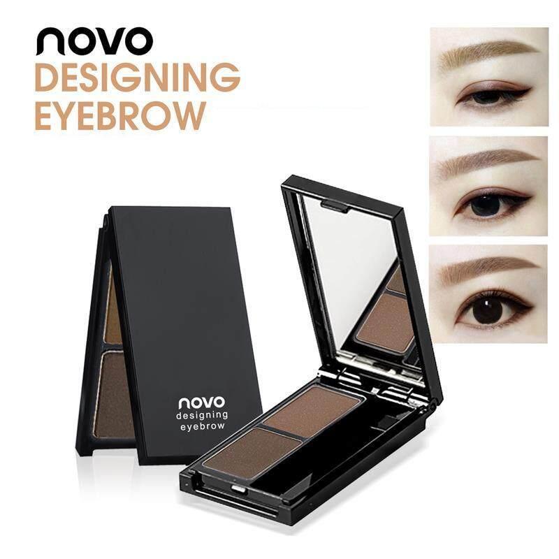 เขียนคิ้วฝุ่นอัดแข็งแบบตลับ Novo Two Color Designing Eyebrow No.5088 เขียนคิ้วที่เนรมิตคิ้วที่นุ่มนวลและบริสุทธิ์โดยใช้การไล่เฉดสีตามธรรมชาติ.