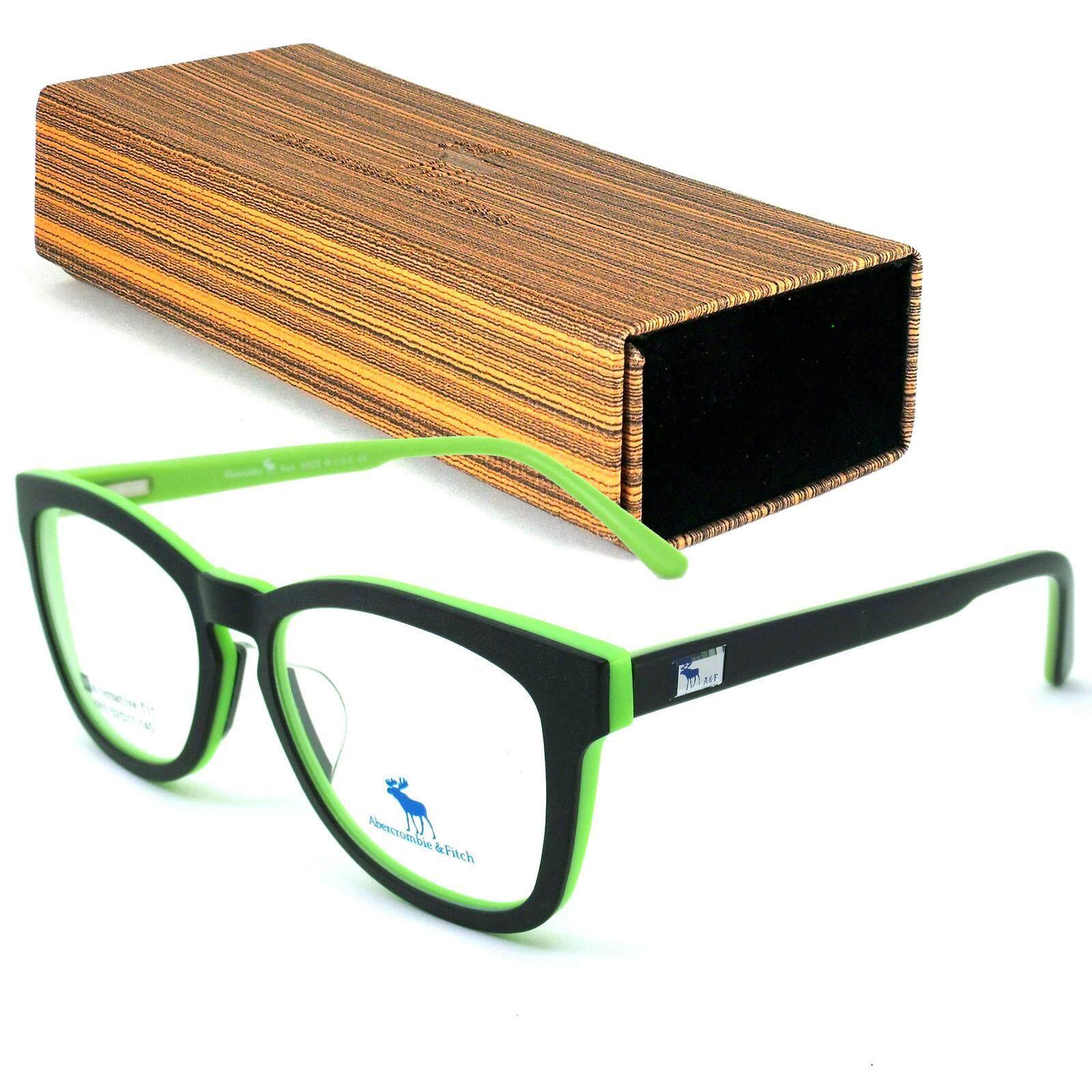 Abercrombie & Fitch แว่นตา รุ่น 8903 กรอบแว่นตา ( สำหรับตัดเลนส์ ) MADE IN U.S.A แป้นจมูกซิลิโคน ( ขาสปริง ) กรอบแว่นตา EyewearTop Glasses