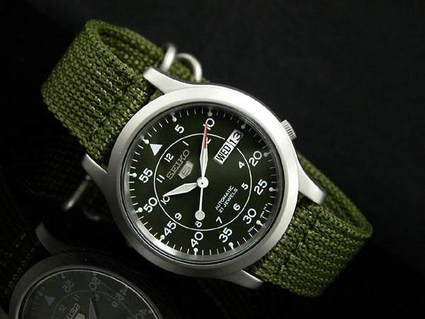 ยี่ห้อนี้ดีไหม  นนทบุรี Seiko 5 Military Automatic รุ่น SNK805K2  นาฬิกาข้อมือผู้ชาย สายผ้า ตัวขายดี - มั่นใจ ของแท้ 100% ประกันศูนย์ Seiko 1 ปีเต็ม