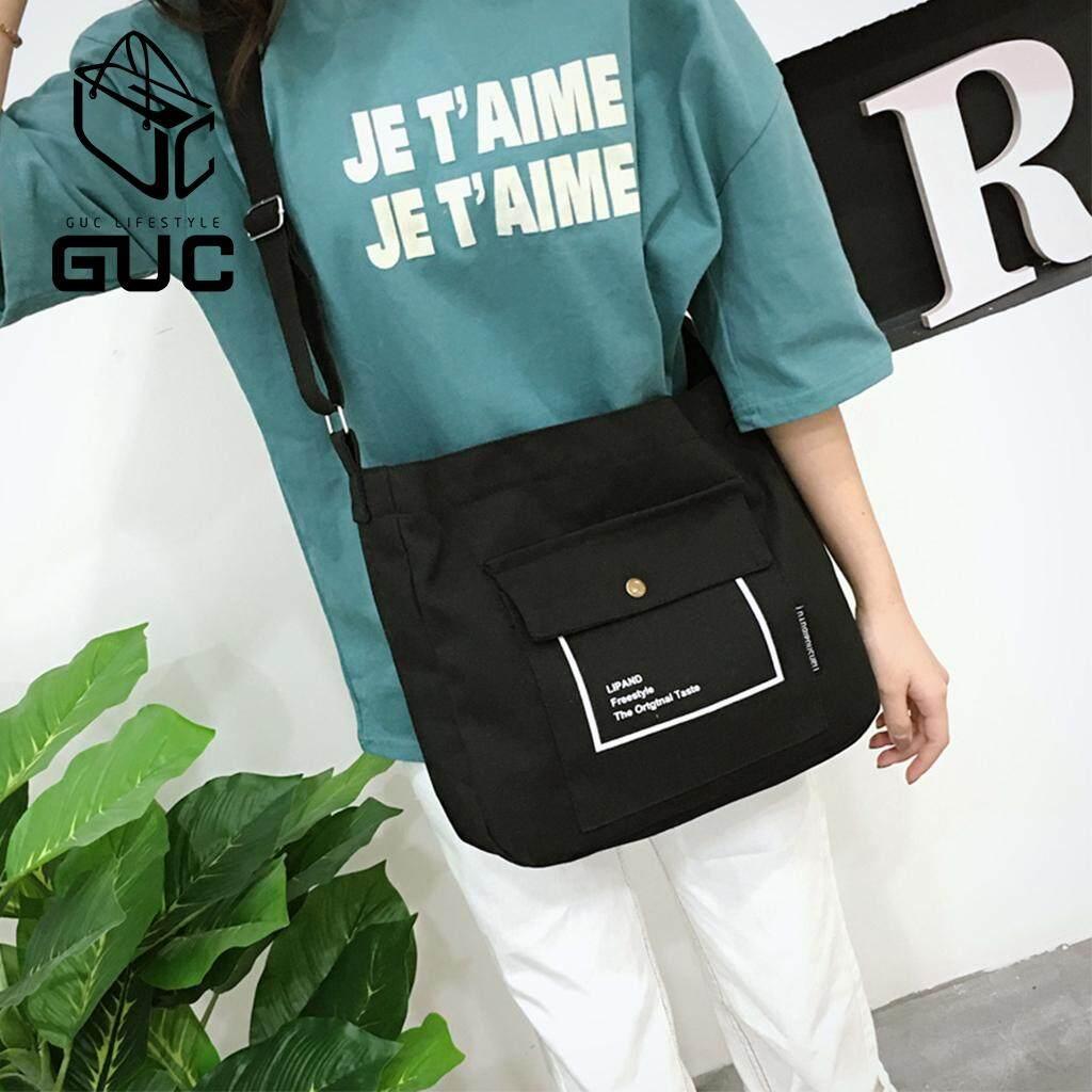 กระเป๋าสะพายพาดลำตัว นักเรียน ผู้หญิง วัยรุ่น ชลบุรี GUCกระเป๋าผ้าLIPANDน่ารัก GUC B495
