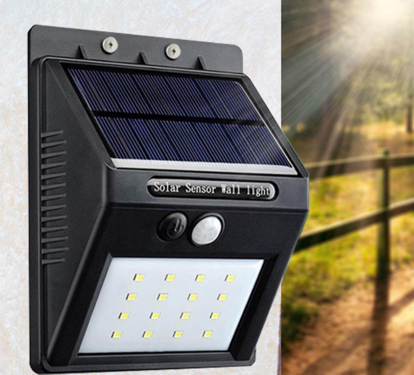 Alumixs อะลูมิกซ์ ไฟติดผนังโซล่าเซลล์พลังงานแสงอาทิตย์ รุ่น 20 Led.