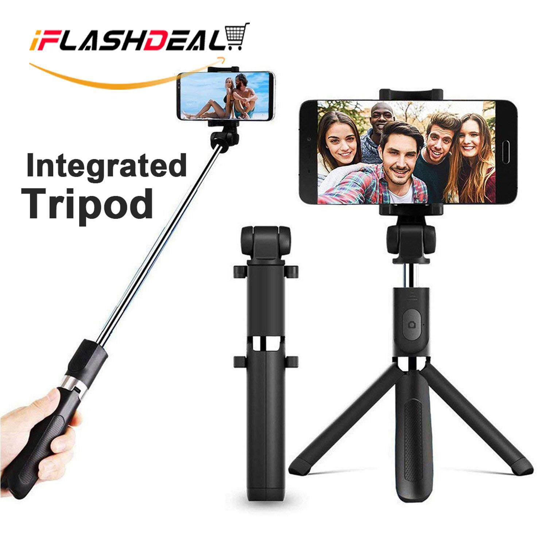 Iflashdeal ขาตั้งแบบสามขา, Selfie Stick Monopod ขาตั้งแบบบูรณาการและบลูทูธเลนส์ติดกล้องโทรศัพท์มือถือ, Selfie แหวนไฟ Hd มุมกว้างเลนส์ Fisheye, เลนส์ไมโครสำหรับโทรศัพท์มือถือ Selfie Stick By Iflashdeal.