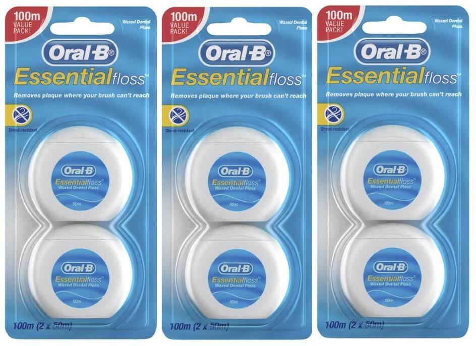 ไหมขัดฟัน Oral-B Essential Floss 50m * 6 Rolls ผลิตปี 2018 By Saver Shop.
