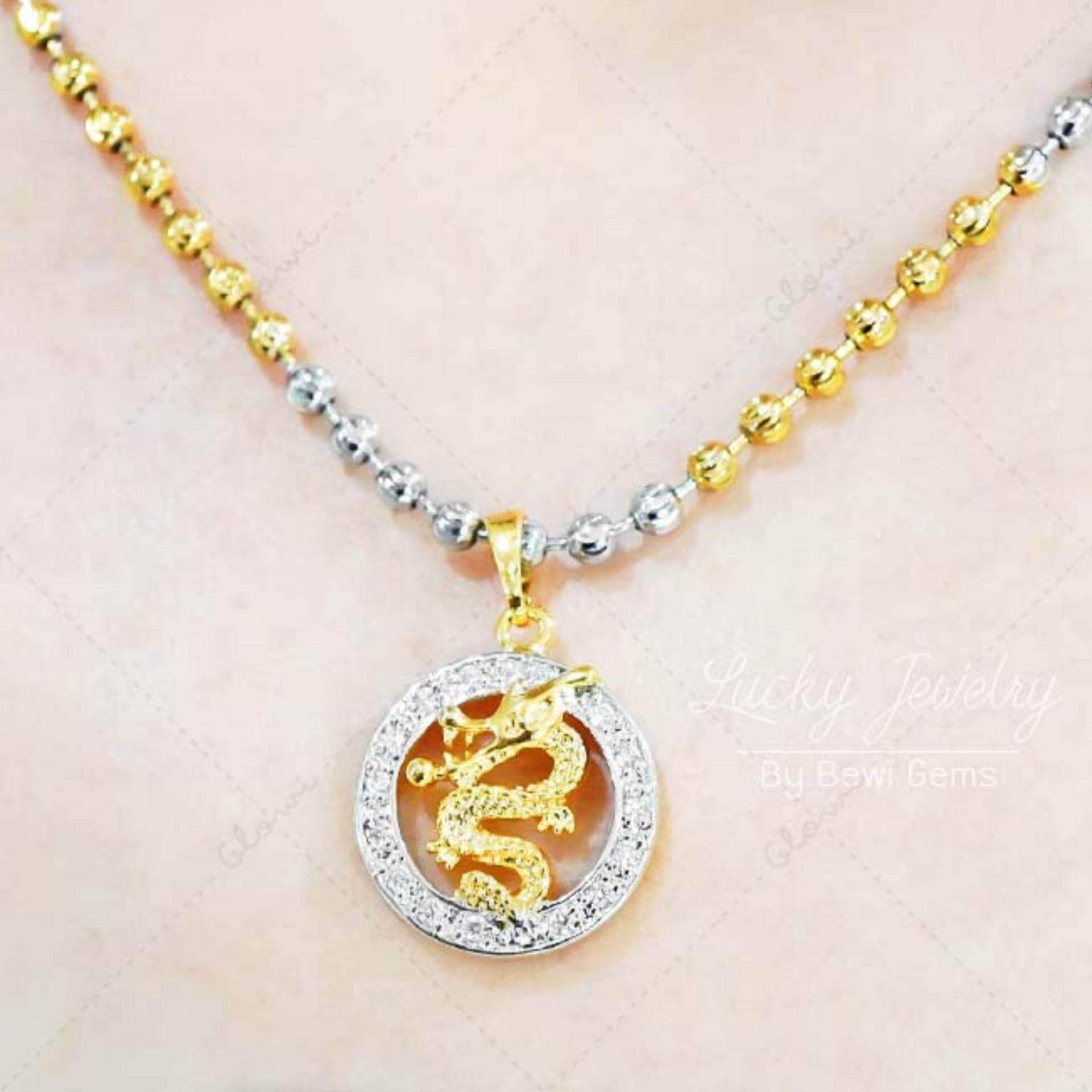 ขาย Bewi G จี้พร้อมสร้อย จี้ลวดลายมังกรสีทองล้อมเพชรสีเงิน จี้นำโชค เสริมดวง พร้อม สร้อยทองเคอิตาลี รุ่น Bg N0010 Bg P0023 สีทอง Gold ออนไลน์ ใน ไทย
