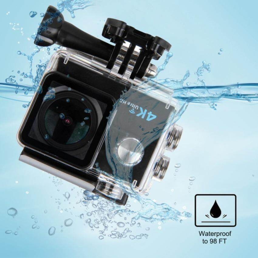 "ULTRA Action Camera H16 BLACK 4K Camera WiFi Full HD 16MP 2.0"" LCD Dual Screen Go Waterproof Pro Sport Camera For Camcorder Car DVR pro Action camera กล้องถ่ายวิดีโอ ความระเอียด 4K ถ่ายใต้น้ำได้ 30 เมตร"
