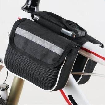 กระเป๋าใต้จักรยาน กระเป๋าคู่ กระเป๋าติดจักรยาน กระเป๋าใส่โทรศัพท์ Outdoor Bike Bag Double Side รุ่น BBG1-304DF (Black)