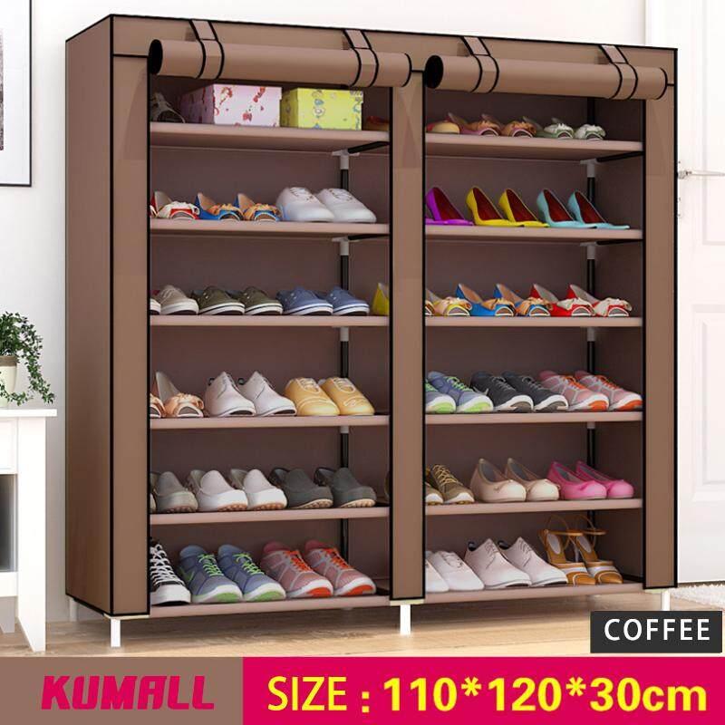Kumall ชั้นวางรองเท้า ตู้เก็บรองเท้า ตู้ใส่รองเท้า 6 ชั้น Shoes Rack จำนวน 42 คู่ ส่งจากกรุงเทพ By Kumall.