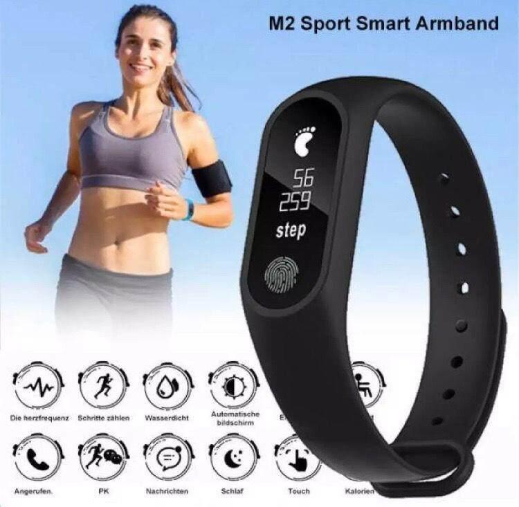 Intelligence Health Bracelet : Smart Watch รุ่น M2 นาฬิกาอัจฉริยะ ฟังก์ชั่นครบ กันน้ำ ใช้งานสะดวก นาฬิกาสำหรับผู้รักสุขภาพและการออกกำลังกาย By Cnmobile.