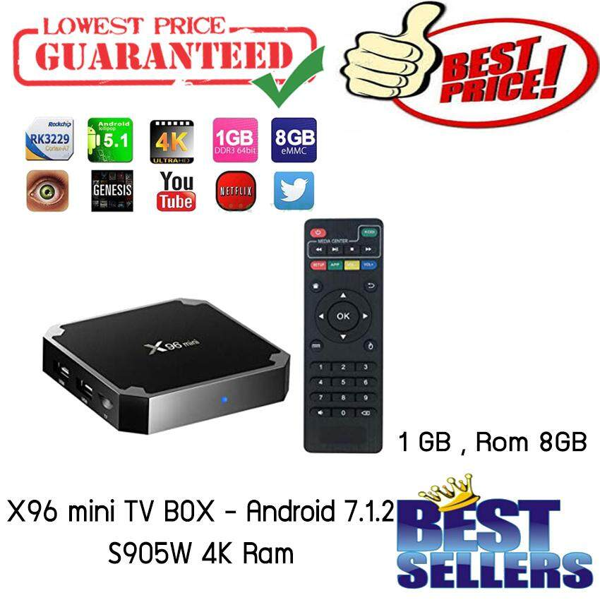 ชลบุรี X96 mini TV BOX - Android 7.1.2 S905W 4K Ram 1 GB   Rom 8GB
