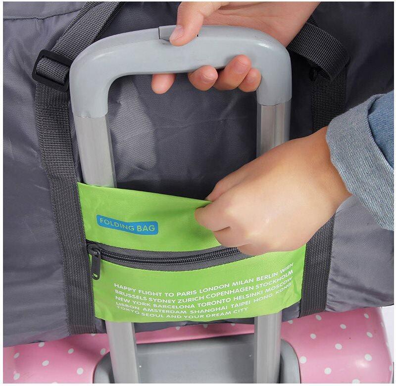 folding bag handle