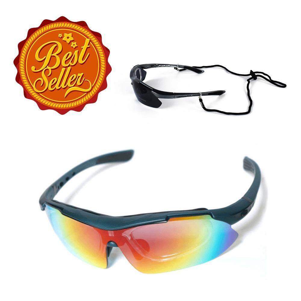 ราคา Inspy แว่นตาจักรยาน แว่นกันแดด เปลี่ยนเลนส์ได้ ใส่เลนส์สายตาได้ Multicolor เป็นต้นฉบับ