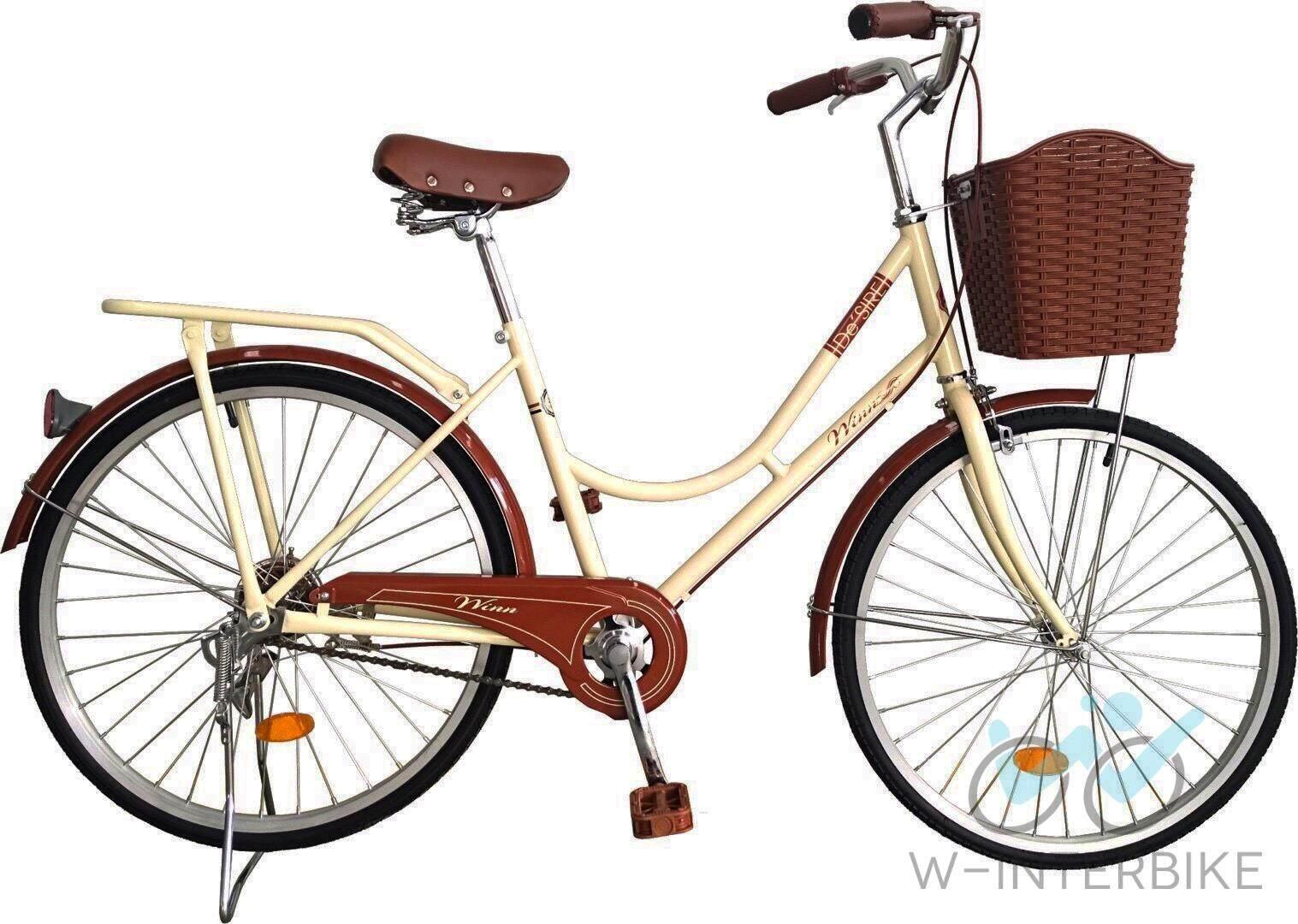 Winn Desire จักรยานแม่บ้านวินเทจ ล้อ26 (สีครีม).