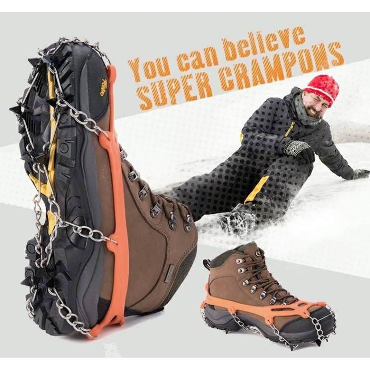 ส่วนลด Ice Crampons ยางรัดรองเท้าเดินบนหิมะกันลื่น เหมาะสำหรับปีนเขา ลุยหิมะ เดินบนพื้นลื่น หรือพื้นน้ำแข็ง ใส่ได้กับทุกไซส์รองเท้า Unbranded Generic ใน กรุงเทพมหานคร