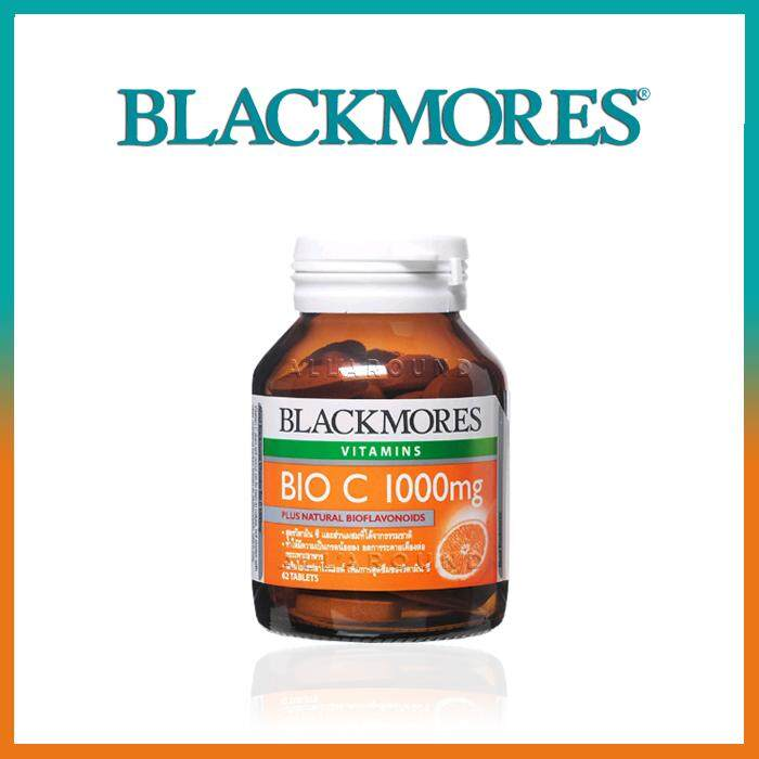 ยี่ห้อไหนดี  ชัยนาท Blackmores Bio C 1000 mg. แบลคมอร์ส วิตามิน ไบโอ ซี (62 เม็ด)