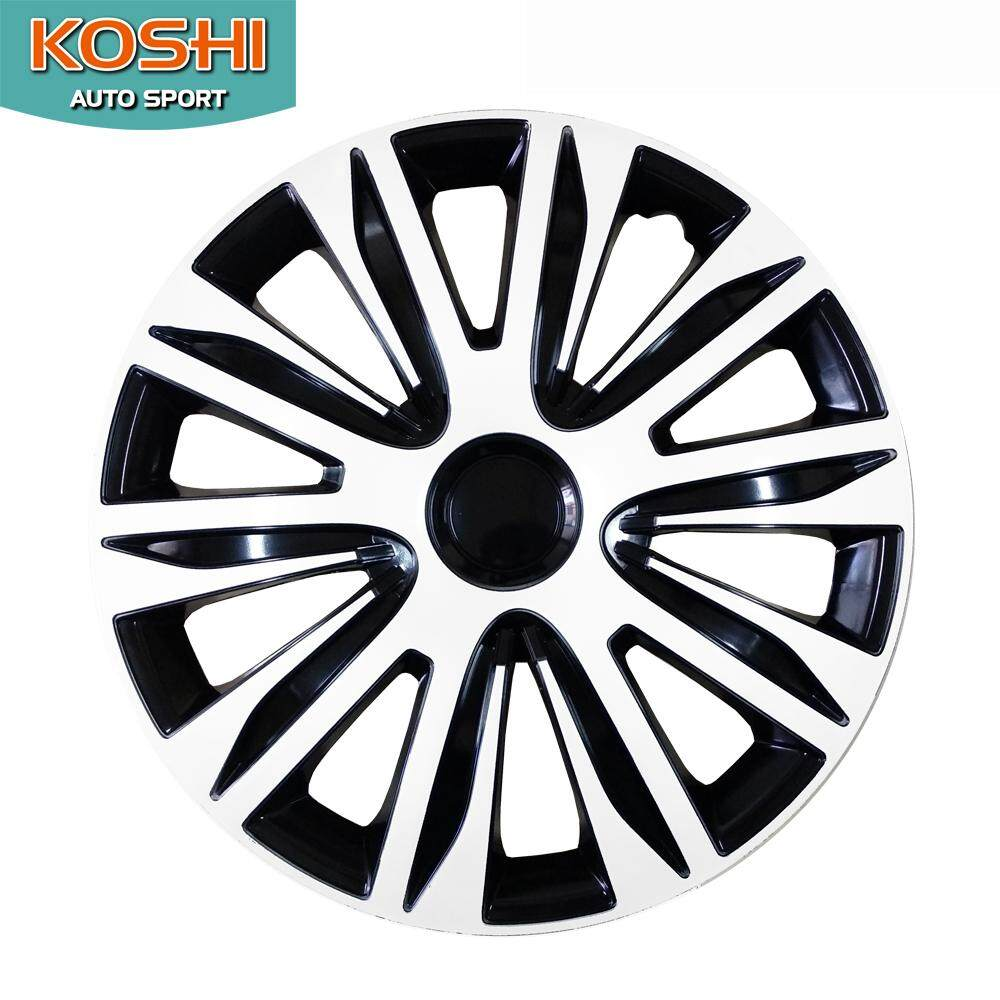 Koshi Wheel Cover ฝาครอบกระทะล้อ 14 นิ้ว ลาย 5083wb (4ฝา/ชุด) ขาว/ดำ By Koshi Autosport.