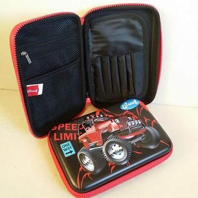 ขายดีมาก! ส่งฟรี kerry !!! ขาย กล่องดินสอสมิกเกิ้ล EVA กระเป๋าดินสอ กล่องดินสอ smiggle hardtop pencil case 3d 3ดี ลาย รถโฟร์วีล สีดำ