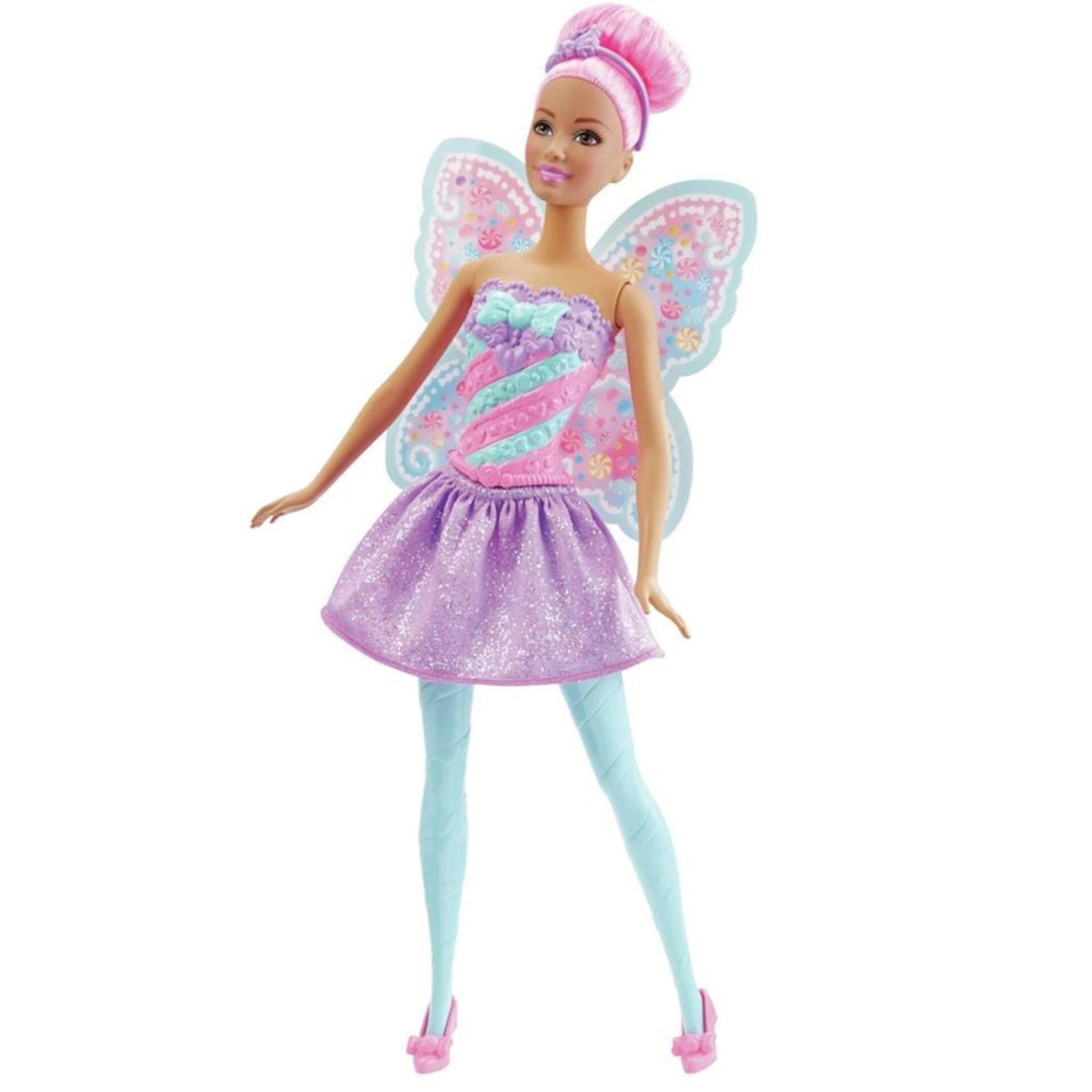 Barbie ตุ๊กตา บาร์บี้ Candy Kingdom Fairy Doll By Barbie Official.