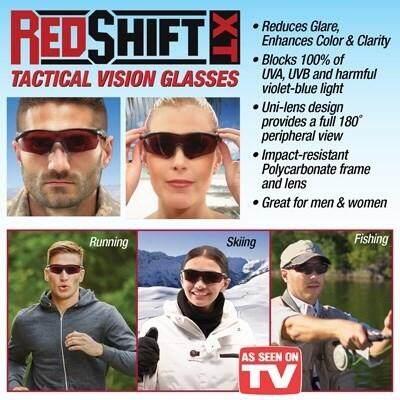 Red Shif XT แว่นตากันแดด ปรับโฟกัส ปรับแสงชัดขึ้น พร้อมกันแดด ป้องกันรังสี UVA และ UVB ใช้ได้ทั้งกลางวัน กลางคืน ใส่สบาย ไม่ปวดตา 1 ชิ้น